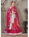 Elegant Hot Pink A Line Lehenga Choli