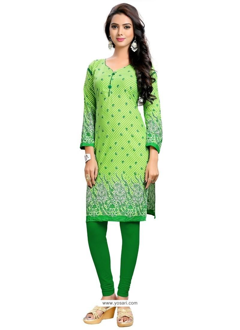 Precious Green Party Wear Kurti