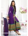 Kriti Sanon Purple Georgette Churidar Suit