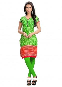 Groovy Green Party Wear Kurti
