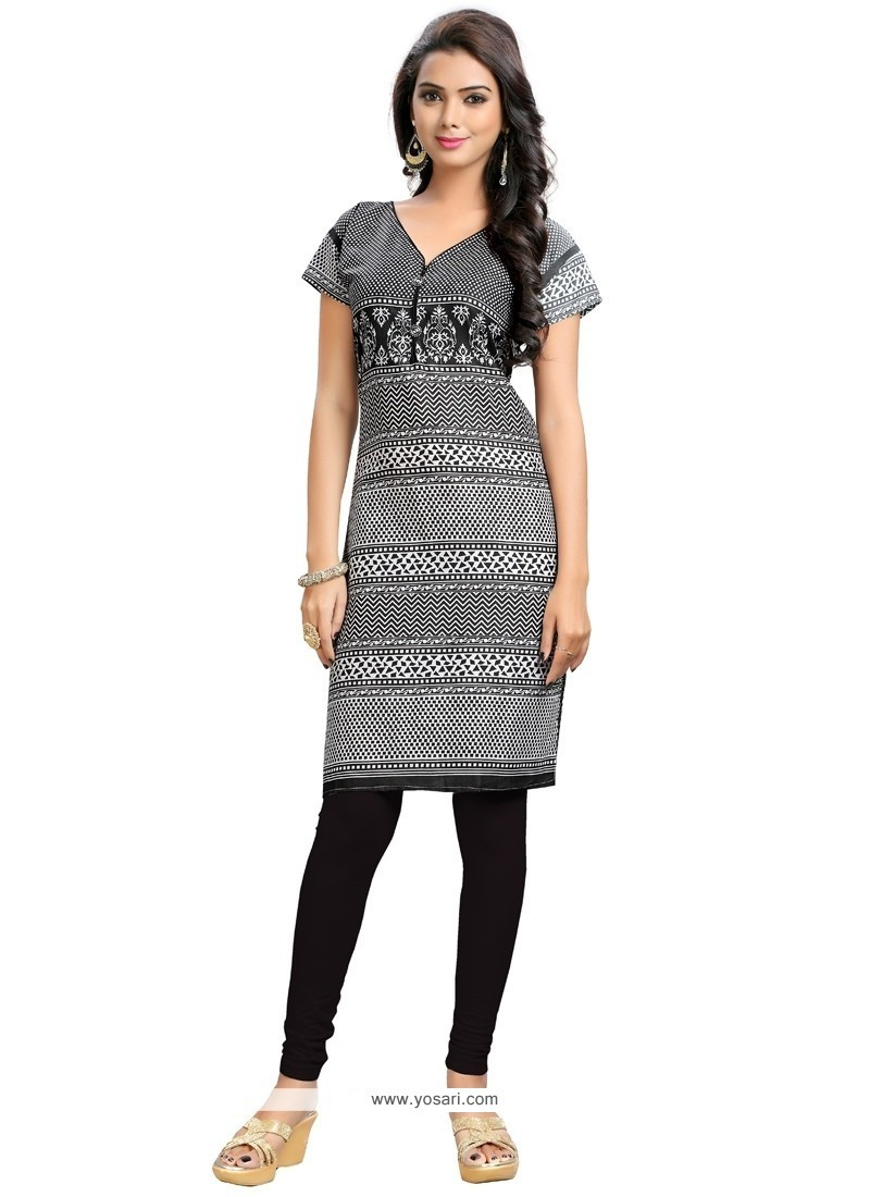 Mesmerizing Grey Party Wear Kurti