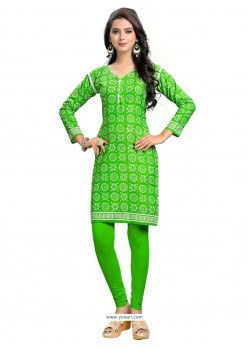 Congenial Cotton Print Work Party Wear Kurti