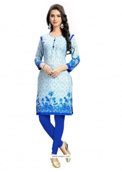 Wonderous Print Work Cotton Party Wear Kurti