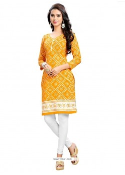 Tiptop Cotton Print Work Party Wear Kurti