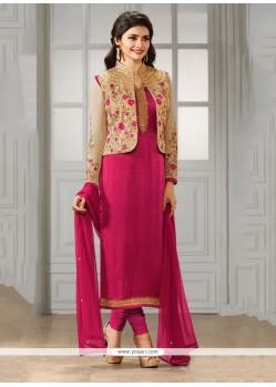 Prachi Desai Georgette Aari Work Churidar Designer Suit