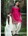 Impeccable Embroidered Work Cotton Punjabi Suit