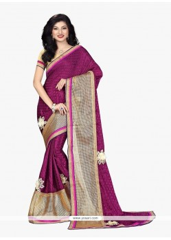 Nice Patch Border Work Traditional Saree