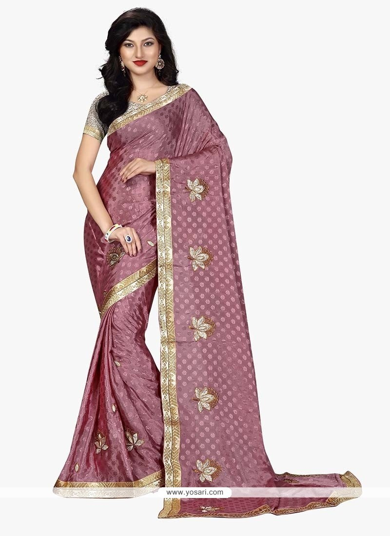 Staggering Lavender Embroidered Work Classic Designer Saree