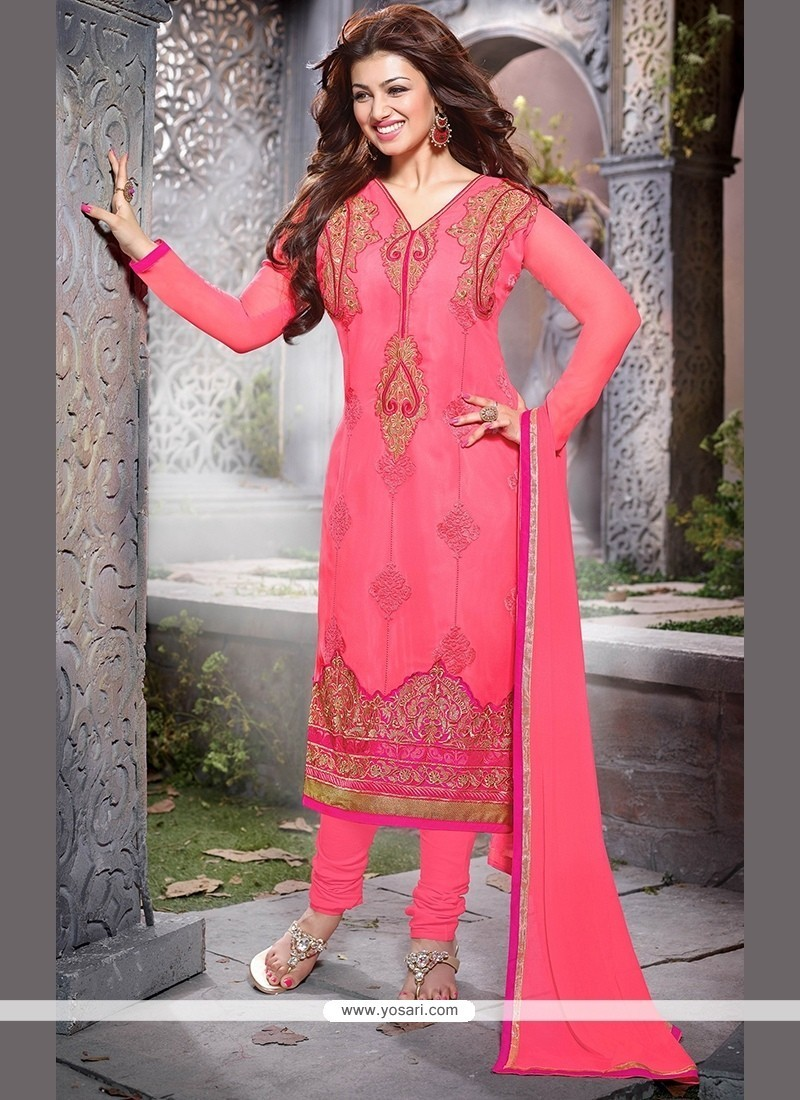 Flawless Georgette Churidar Designer Suit