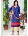 Especial Cotton Embroidered Work Churidar Designer Suit