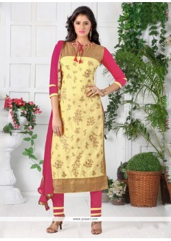 Graceful Cotton Churidar Designer Suit