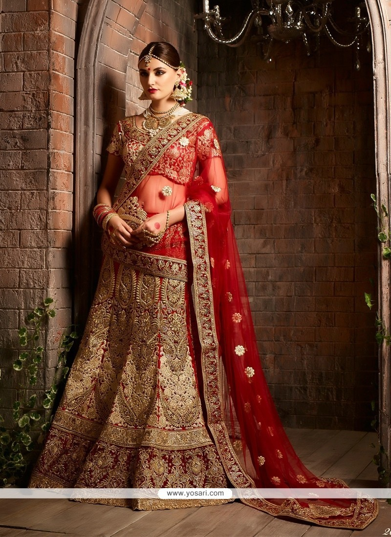 Titillating Raw Silk Embroidered Work A Line Lehenga Choli
