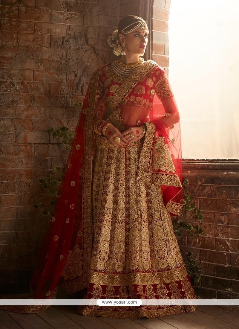 Aspiring A Line Lehenga Choli For Wedding