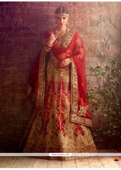Remarkable Raw Silk Embroidered Work A Line Lehenga Choli