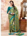 Superb Faux Crepe Casual Saree