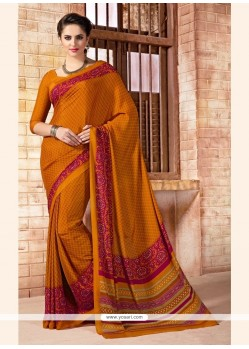 Glamorous Print Work Multi Colour Casual Saree