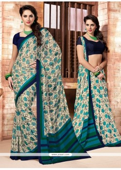Wonderous Faux Crepe Multi Colour Casual Saree