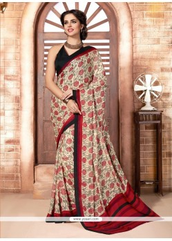 Urbane Print Work Casual Saree