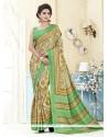 Glossy Kanchipuram Silk Multi Colour Casual Saree