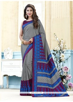 Amazing Print Work Multi Colour Casual Saree