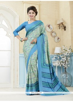 Surpassing Multi Colour Print Work Kanchipuram Silk Casual Saree