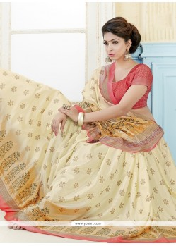 Print Kanchipuram Silk Casual Saree In Multi Colour