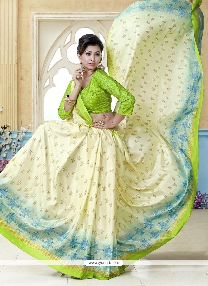 Extraordinary Kanchipuram Silk Multi Colour Casual Saree