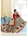 Nice Multi Colour Print Work Kanchipuram Silk Casual Saree