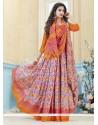Praiseworthy Kanchipuram Silk Multi Colour Print Work Casual Saree
