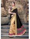 Exquisite Patch Border Work Raw Silk Classic Designer Saree