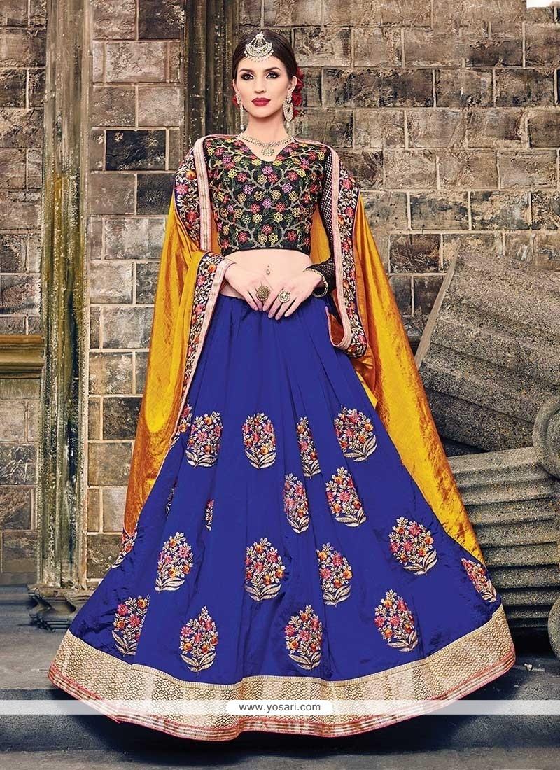 Subtle Art Silk Blue Designer Traditional Sarees