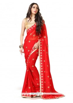 Brilliant Georgette Designer Traditional Sarees