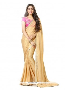 Perfervid Georgette Patch Border Work Trendy Saree