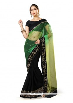 Simplistic Patch Border Work Classic Designer Saree