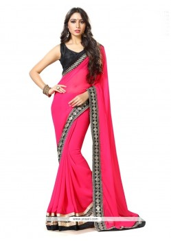 Lavish Georgette Patch Border Work Classic Saree