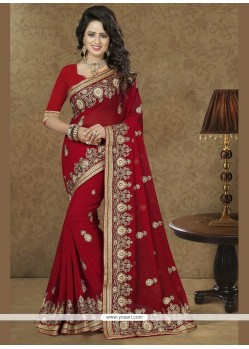 Especial Red Designer Traditional Sarees