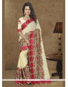 Aesthetic Patch Border Work Georgette Traditional Designer Sarees