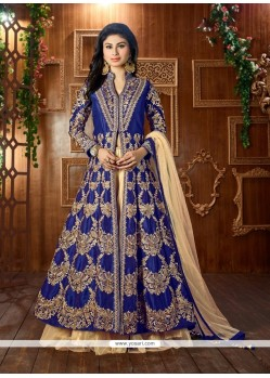 Lovely Blue Embroidered Work Lehenga Choli