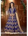 Lovely Blue Embroidered Work Lehenga Choli