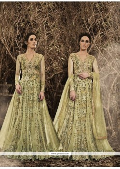 Majestic Embroidered Work Designer Floor Length Suit