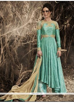 Invaluable Embroidered Work Designer Palazzo Salwar Kameez