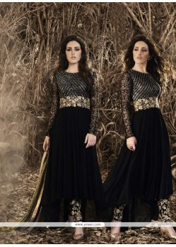 Prodigious Embroidered Work Georgette Designer Suit