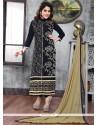 Ruritanian Cotton Black Churidar Suit