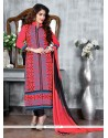 Tempting Embroidered Work Churidar Suit