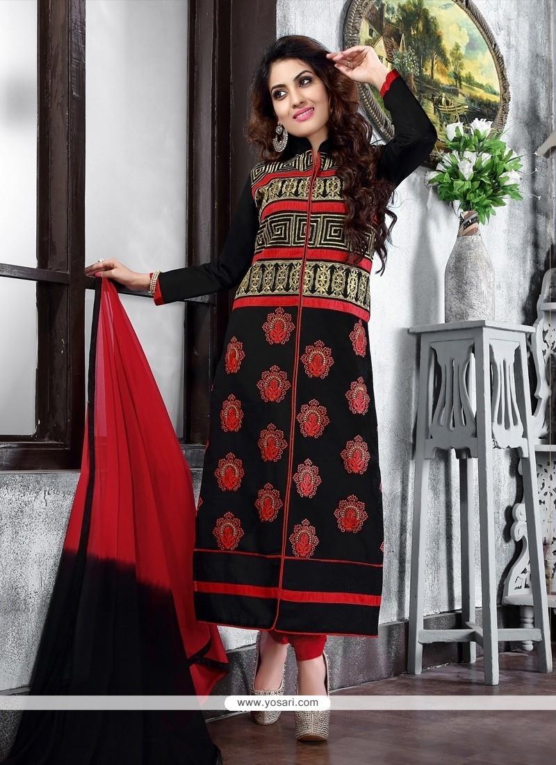 Fab Cotton Lace Work Churidar Suit