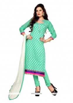 Gratifying Sea Green Churidar Suit