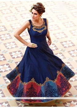 Pretty Art Silk Designer Gown