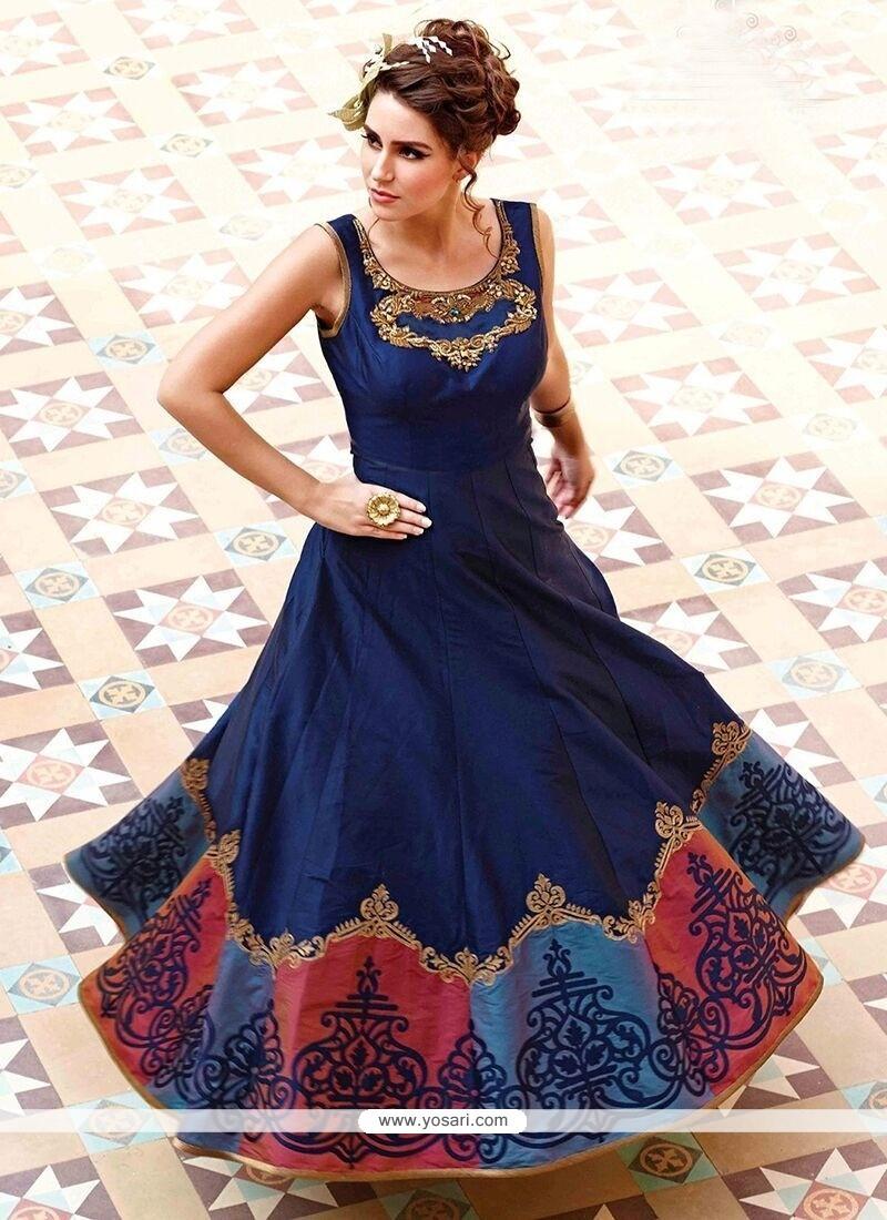 Buy Pretty Art Silk Designer Gown | Gowns