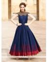 Navy Blue Art Silk Embroidered Work Designer Gown