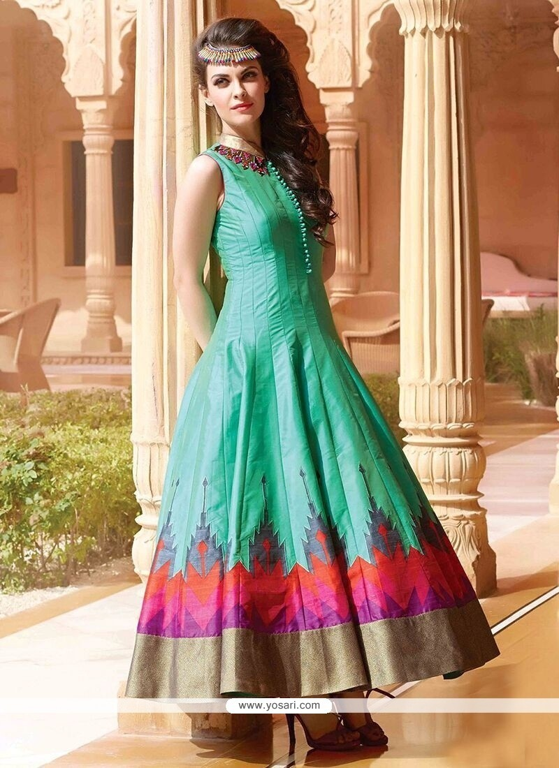 Buy Attractive Art Silk Designer Gown | Gowns